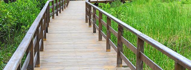 广西防腐木花架设计一道靓丽的景色线